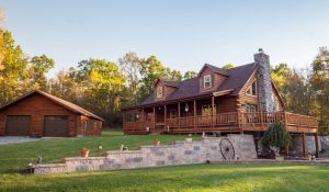 luxury log cabin builds in PA