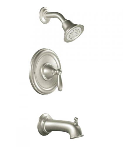 brushed nickel tub and shower handles