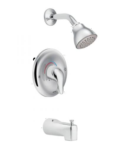 chrome tub and shower handle