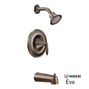 oil bronzed shower hardware