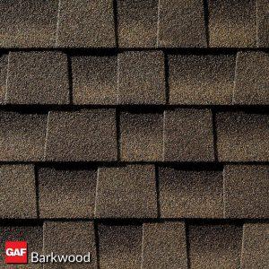 GAF barkwood asphalt shingles