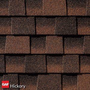 GAF hickory asphalt shingles