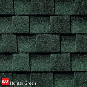 GAF hunter green asphalt shingles