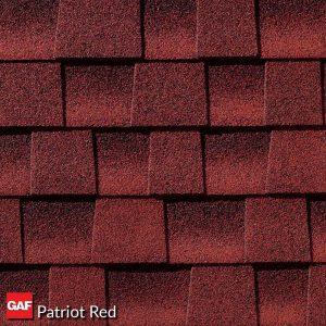 GAF patriot red shingles