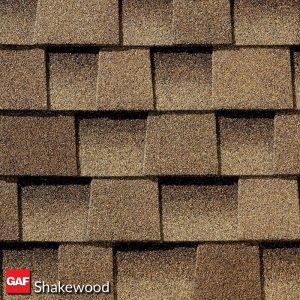 GAF shakewood asphalt shingles