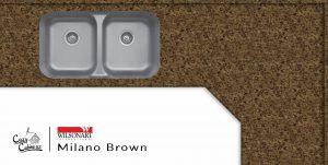 milano brown laminate countertop installation for log cabin