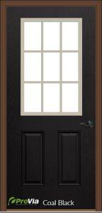 provia coal black exterior door