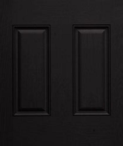 coal black exterior door