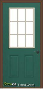 provia forest green exterior door