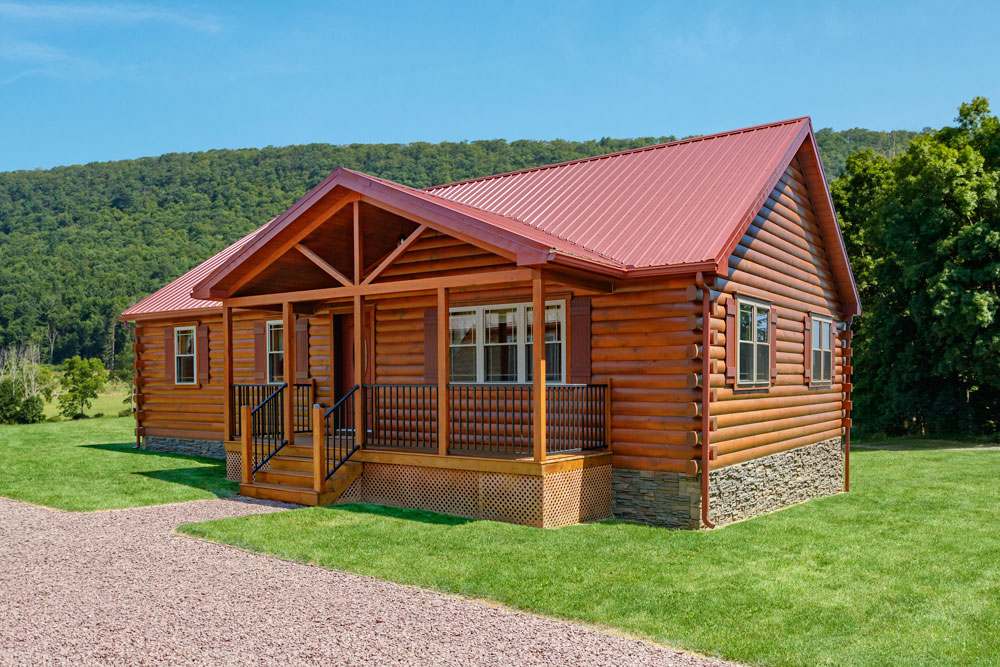 pioneer style modular log cabin