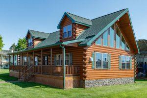 model modular log home