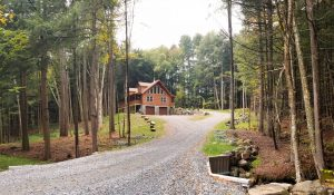 two story log home builders in pa