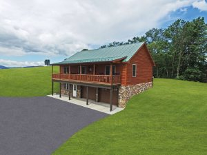 log cabins with porches in pa