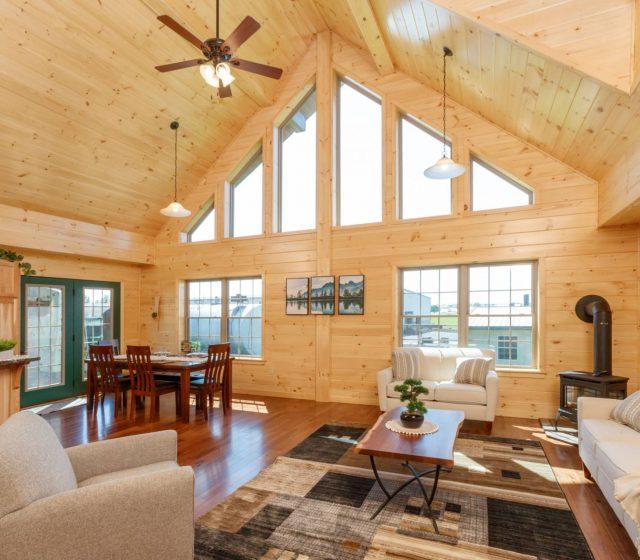 modular log home builders in maine