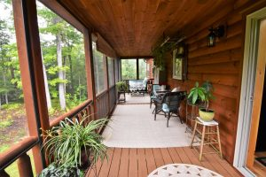log cabin porch builders in pa