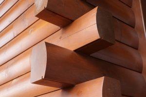 wooden log corners