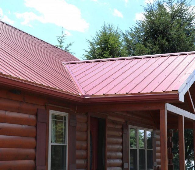 red metal steel roof