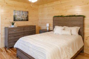 small cabin bedroom