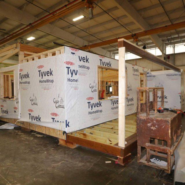 modular log construction in lancaster facility