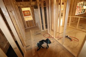 building a log cabin interior