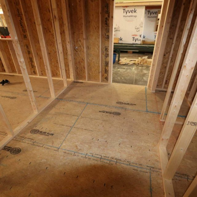 log cabin build interior