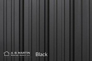 black textured steel panels