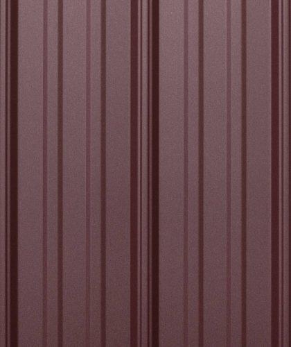 burgundy metal roofing panels