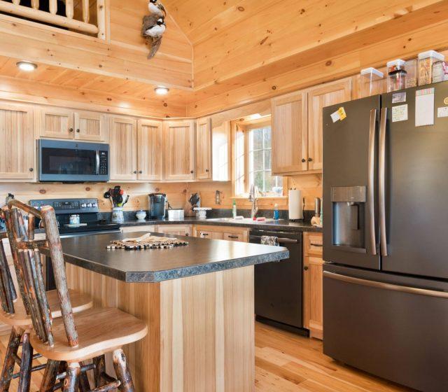modular log cabin kitchen