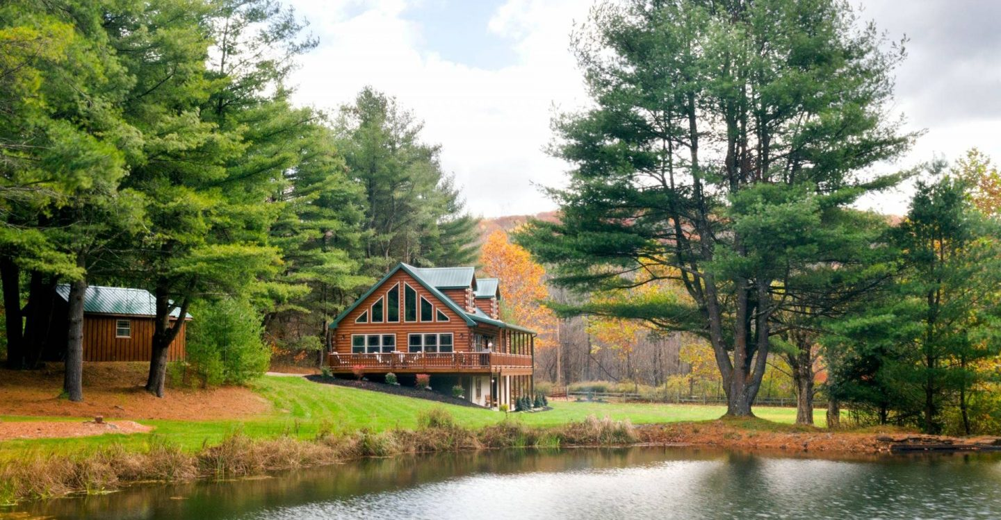 cape cod style log home design