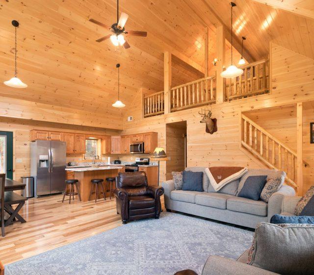 luxury interiors in mountaineer deluxe cabin