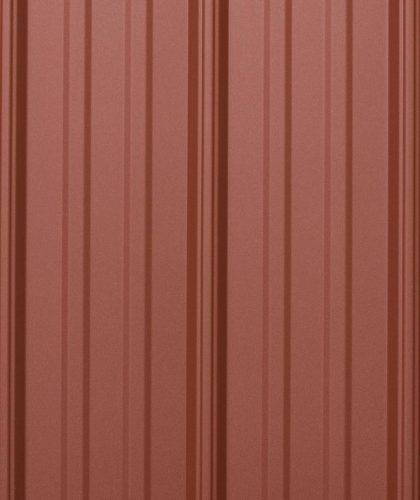 colonial red metal roof panels