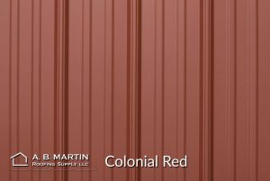 colonial red textured steel panels