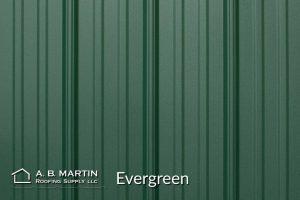 evergreen textured steel panel