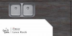 lava rock corian countertop installation