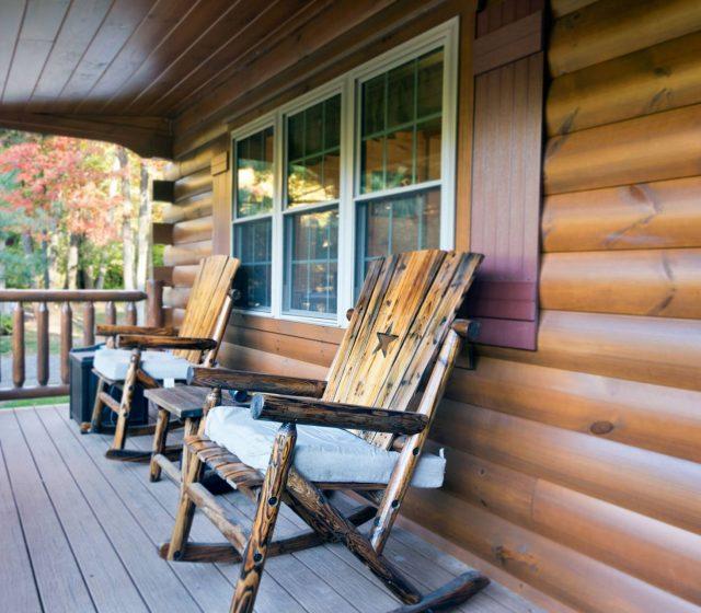 manufactured frontier modular log home