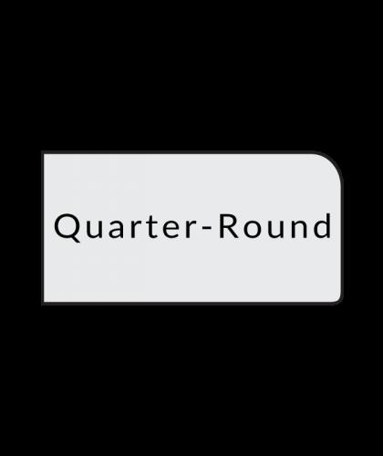 quarter round quartz countertop