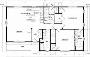 frontier modular cabin floor plan