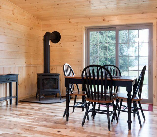 large white pine dining room