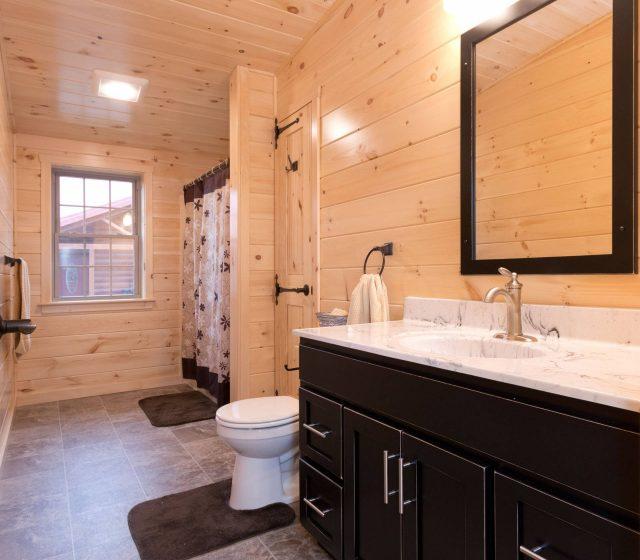 open cabin bathroom floor plan