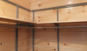 overhead closet rod shelf