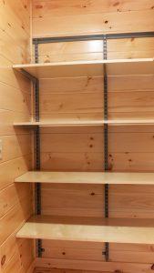 wooden shelfing